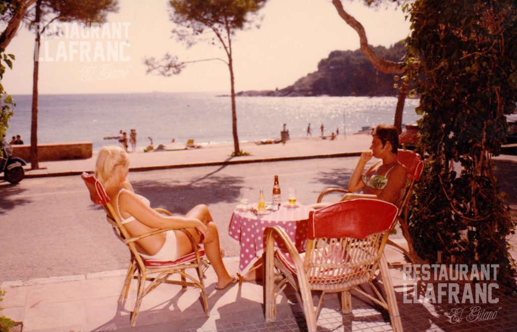 El restaurant llafranc en els anys 50